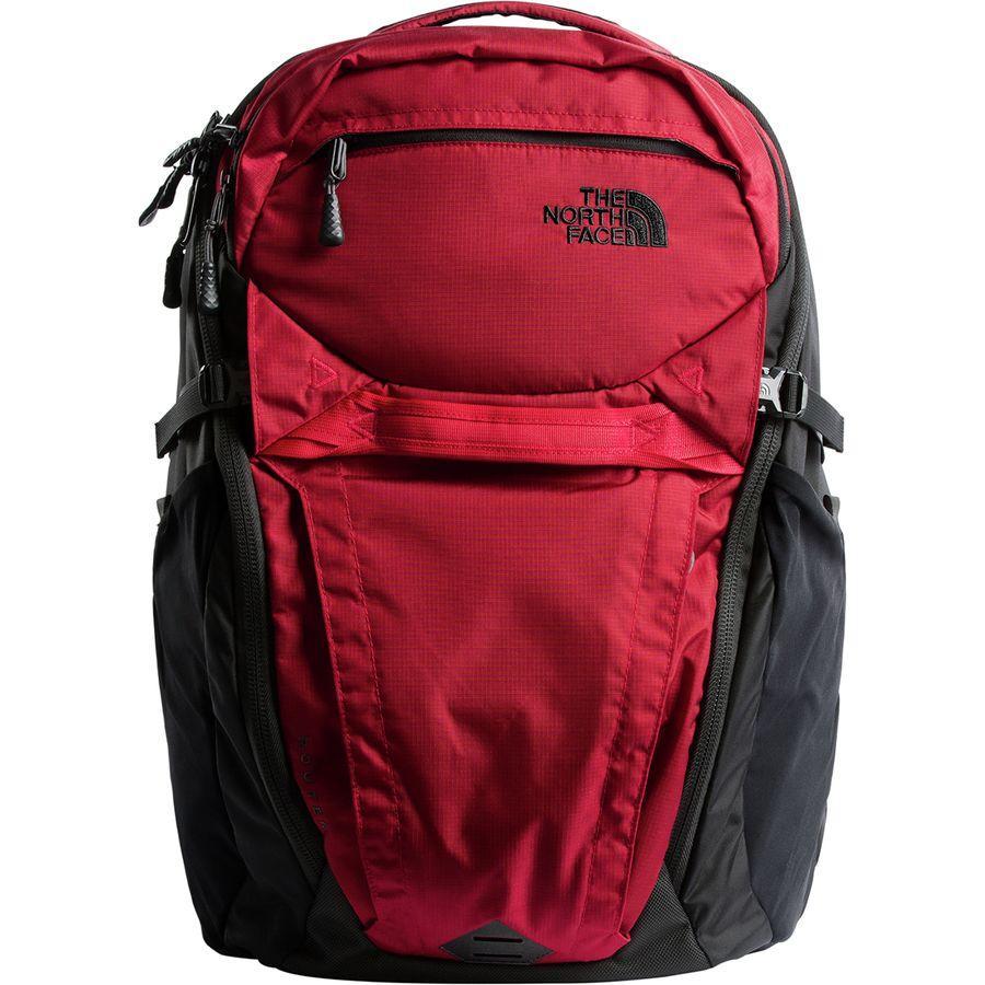 (取寄)ノースフェイス ルーター 40L バックパック The North Face Men's Router 40L Backpack Rage Red Ripstop/Tnf Black