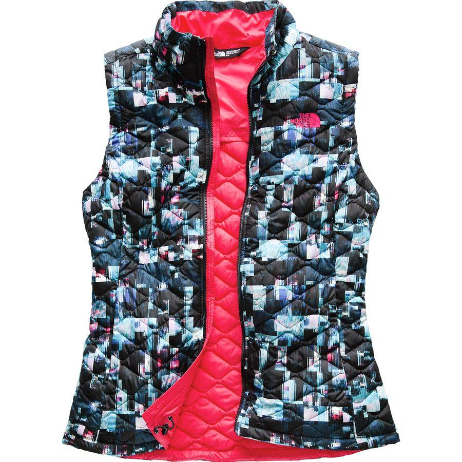 (取寄)ノースフェイス レディース ThermoBall インサレーテッド ベスト The North Face Women ThermoBall Insulated Vest Multi Glitch Print
