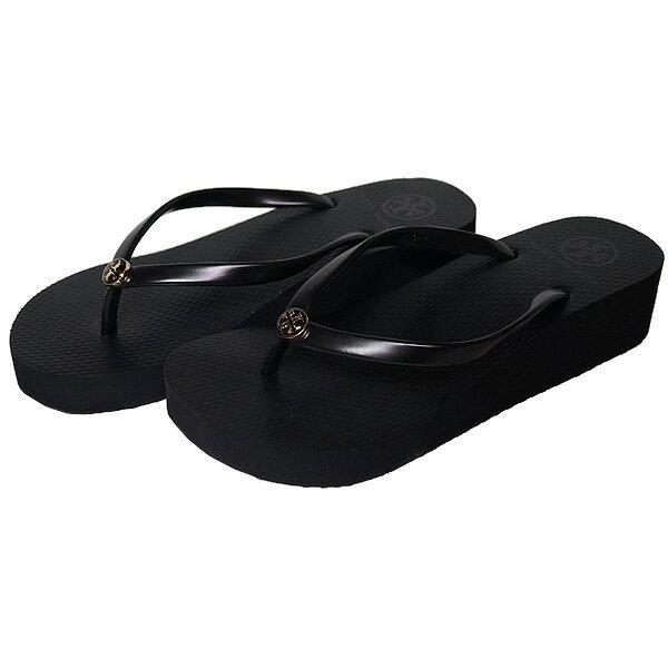 089d85c3b71e Tolly Birch wedge sole sandals black Tory Burch Wedge Thin Flip Flops Black