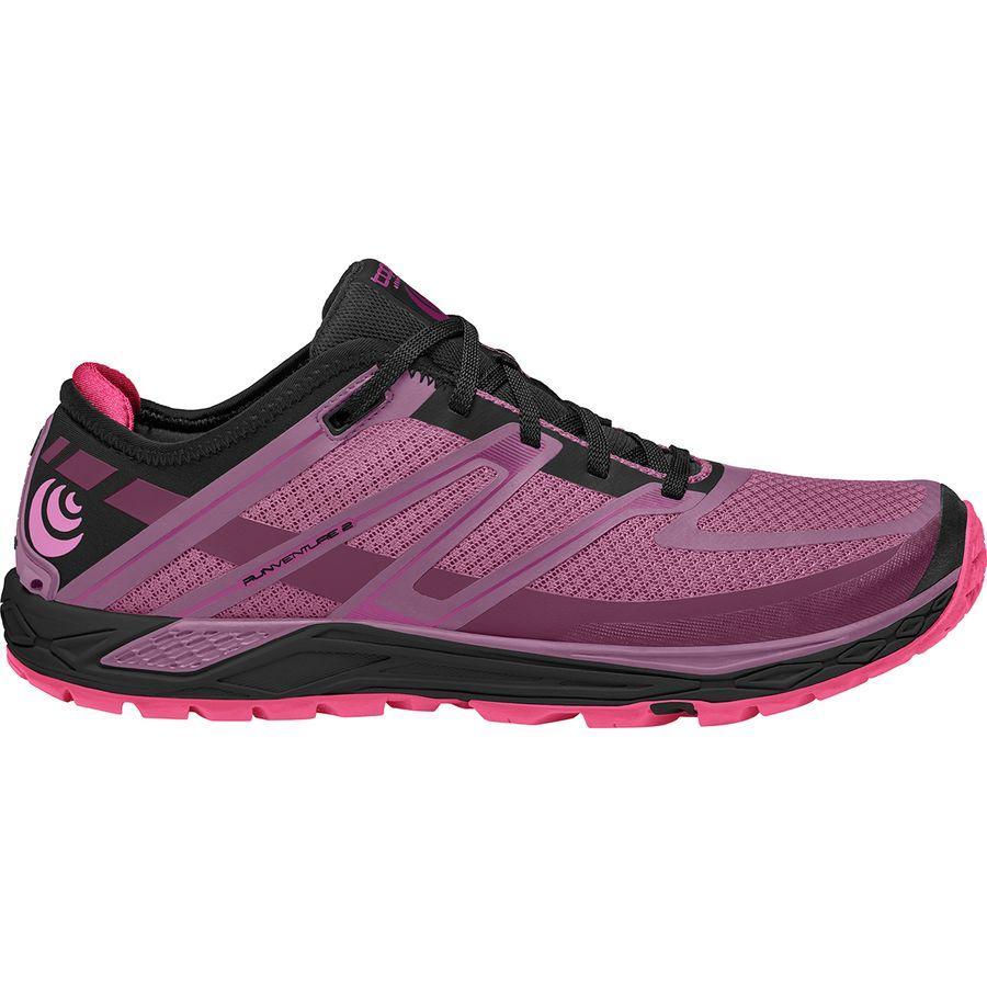 (取寄)トポアスレチック レディース ランベンチャーズ 2 トレイル ランニングシューズ Topo Athletic Women Runventure 2 Trail Running Shoe Raspberry/Black