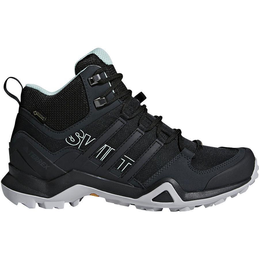 (取寄)アディダス レディース アウトドア テレックス スウィフト R2 ミッド Gtx ハイキング ブーツ Adidas Women Outdoor Terrex Swift R2 Mid GTX Hiking Boot Black/Black/Ash Green