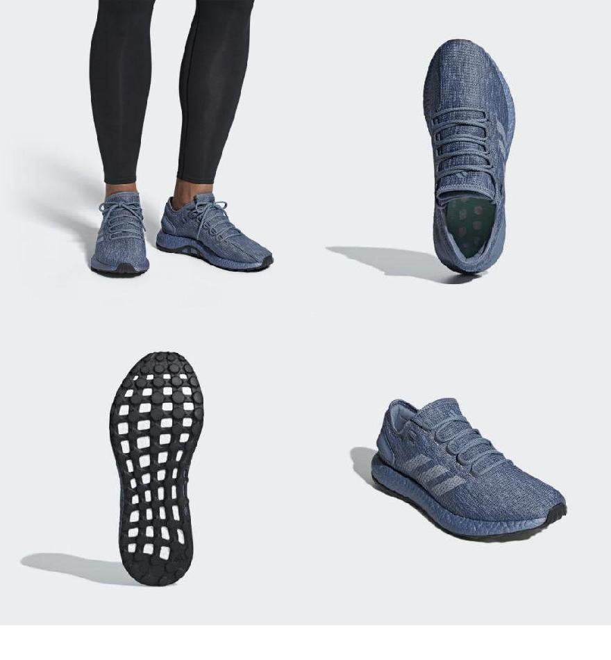 e6a9025e9 (order) Adidas men s pure boost running shoes adidas Men s Pureboost Shoes  Steel   Light Solid Grey   Clear Mint