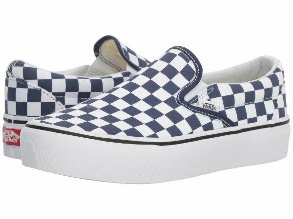 (取寄)Vans(バンズ) スニーカー クラシック スリップ ユニセックス メンズ レディース Vans Unisex Classic Slip (Checkerboard) Medieval Blue/True White