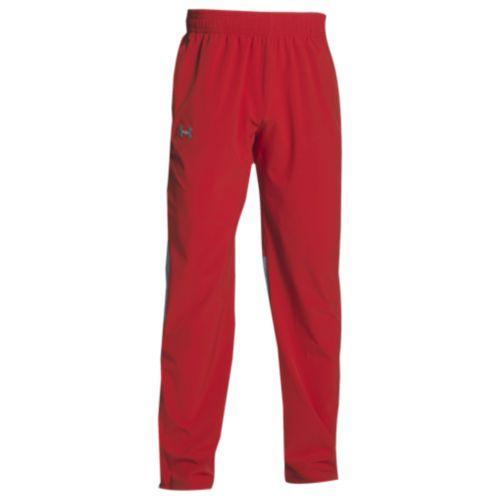 【クーポンで最大2000円OFF】(取寄)アンダーアーマー メンズ チーム スクウォッド ウーブン ウォーム アップ パンツ Under Armour Men's Team Squad Woven Warm Up Pants Red Steel
