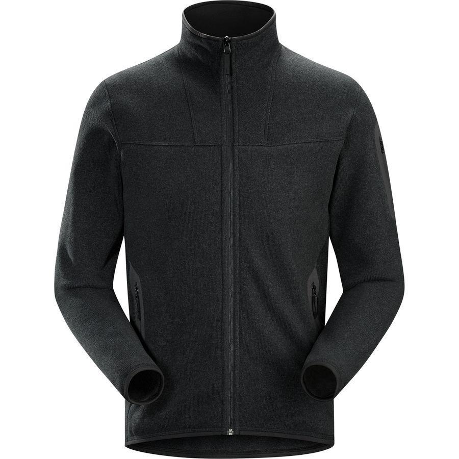 (取寄)アークテリクス メンズ コバート フルジップ カーディガン Arc'teryx Men's Covert Full-Zip Cardigan Black Heather
