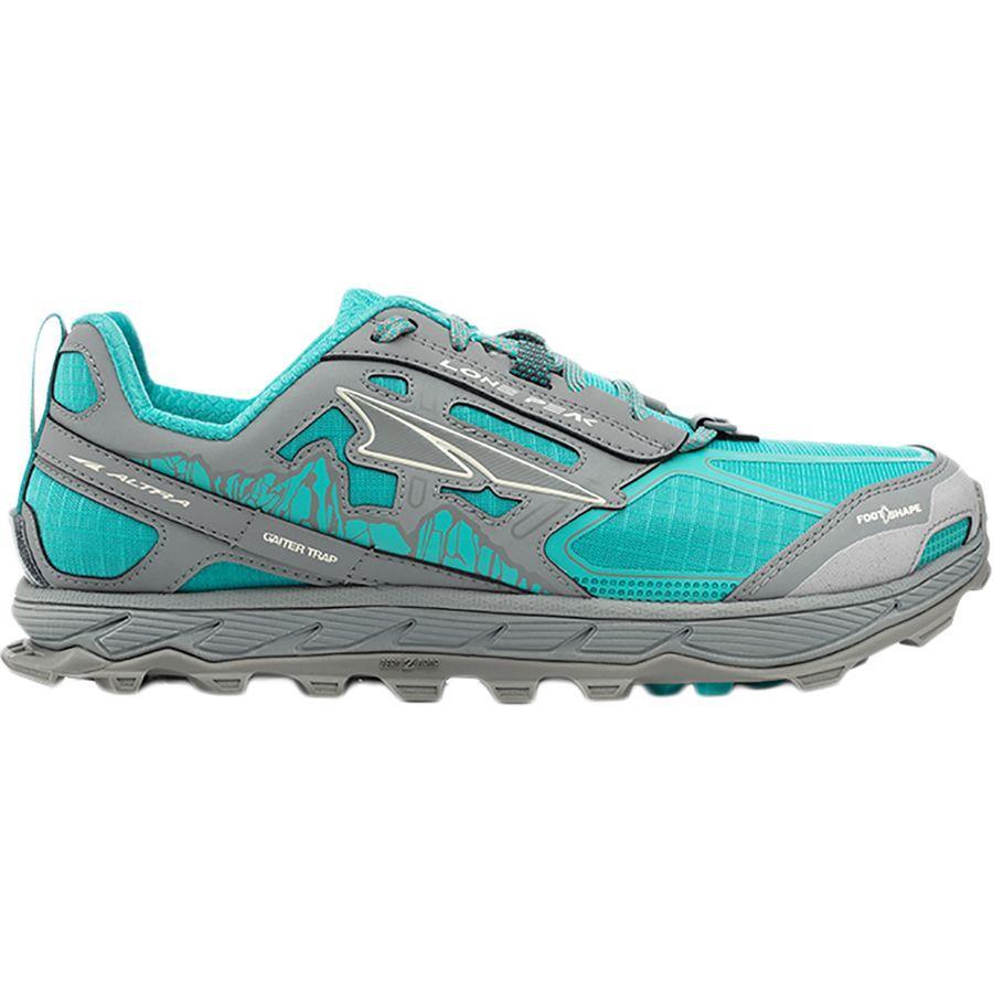 【クーポンで最大2000円OFF】(取寄)アルトラ レディース ローン ピーク 4.0トレイル ランニングシューズ Altra Women Lone Peak 4.0 Trail Running Shoe Teal/Gray