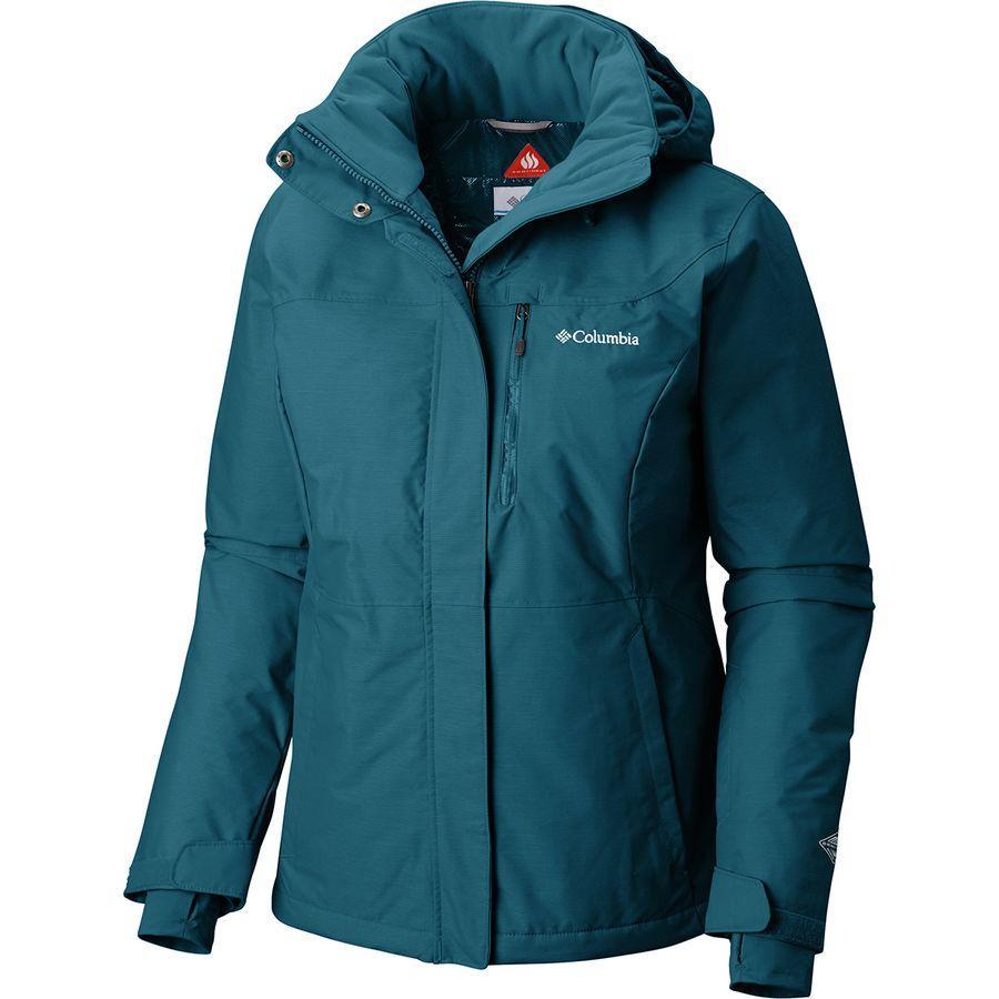 (取寄)コロンビア レディース アルパイン アクション オムニヒート フーデッド ジャケット Columbia Women Alpine Action Omni-Heat Hooded Jacket Lagoon