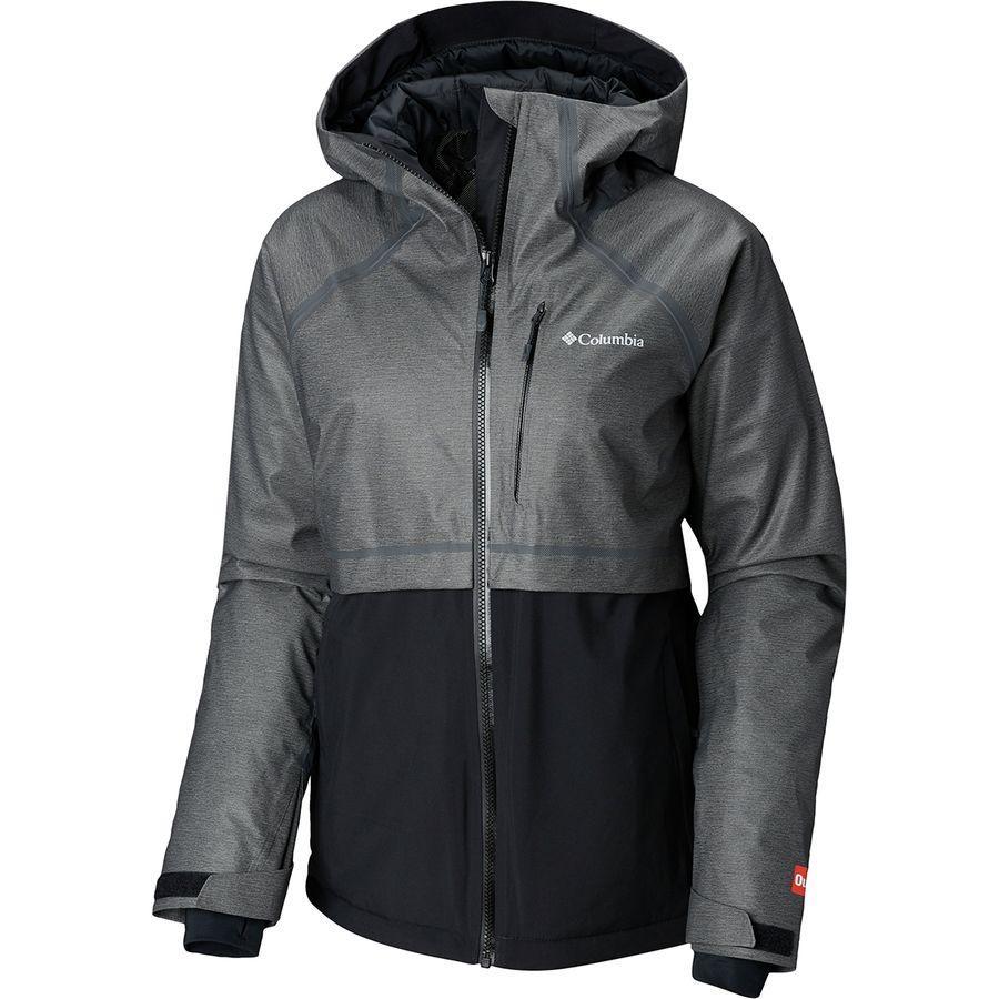 (取寄)コロンビア レディース アウトドライ グレイシャル ハイブリッド ジャケット Columbia Women Outdry Glacial Hybrid Jacket Charcoal Heather/Black
