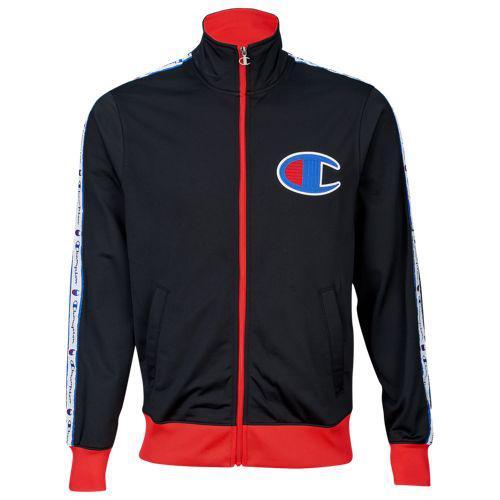 (取寄)チャンピオン メンズ ビッグ C トラック ジャケット Champion Men's Big C Track Jacket Black Scarlet