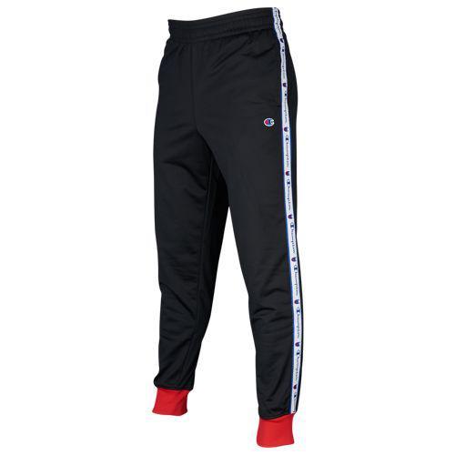(取寄)チャンピオン メンズ トラック ジョガー パンツ Champion Men's Track Jogger Pants Black Scarlet