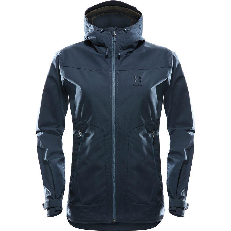 (取寄)ホグロフス レディース トレイル フーデッド ジャケット Haglofs Women Trail Hooded Jacket Tarn Blue