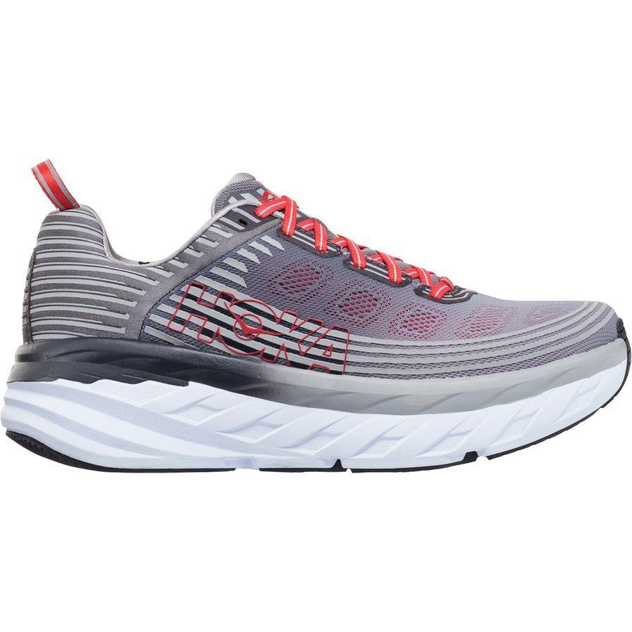 【クーポンで最大2000円OFF】(取寄)ホカ オネオネ メンズ ボンダイ 6 ランニングシューズ Hoka One One Men's Bondi 6 Running Shoe Alloy/Steel Gray