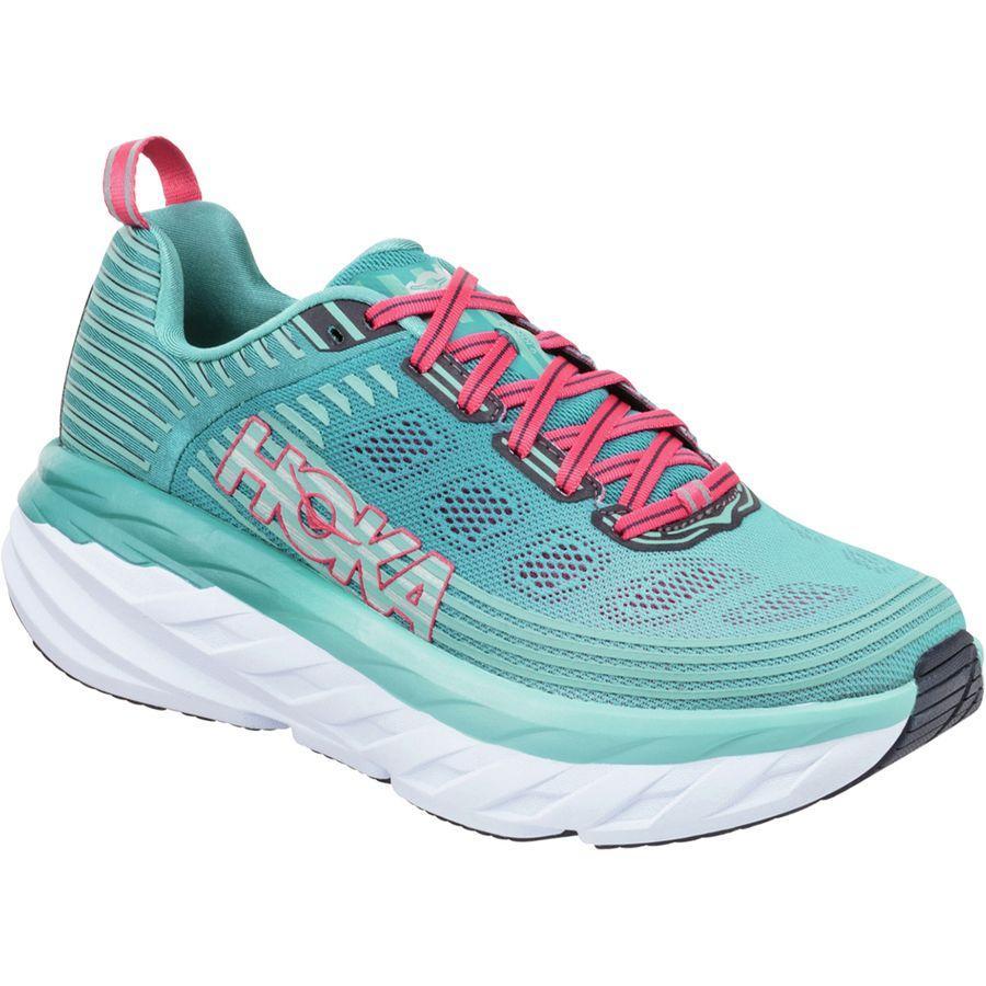 (取寄)ホカ オネオネ レディース ボンダイ 6 ランニングシューズ Hoka One One Women Bondi 6 Running Shoe Canton/Green Blue Slate