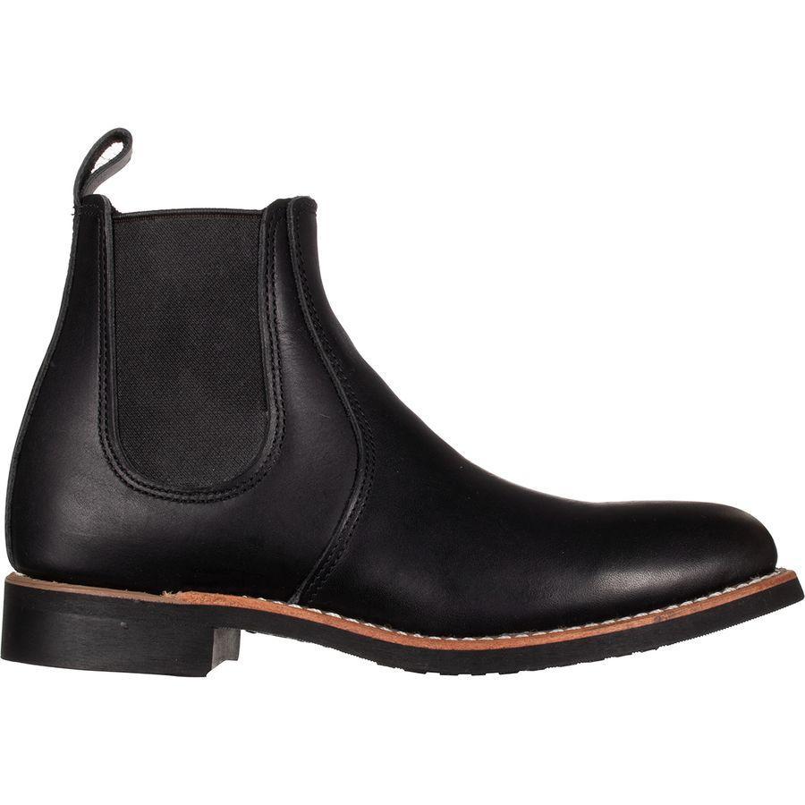 (取寄)レッドウィング レディース ヘリテイジ 6inチェルシー ブーツ Red Wing Women Heritage 6in Chelsea Boot Black Boundary Leather