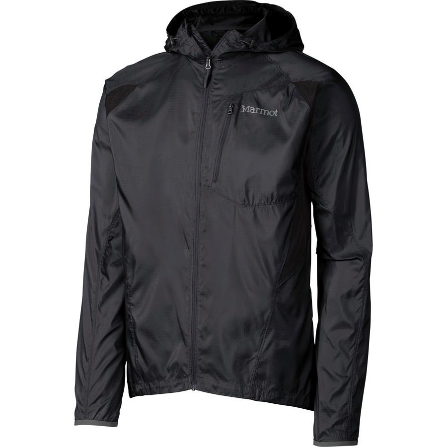 (取寄)マーモット メンズ トレイル ウインド フーデッド ジャケット Marmot Men's Trail Wind Hooded Jacket Black