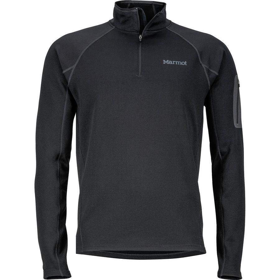 (取寄)マーモット メンズ ストレッチ 1/2-Zip フリース ジャケット Marmot Men's Stretch 1/2-Zip Fleece Jacket Black