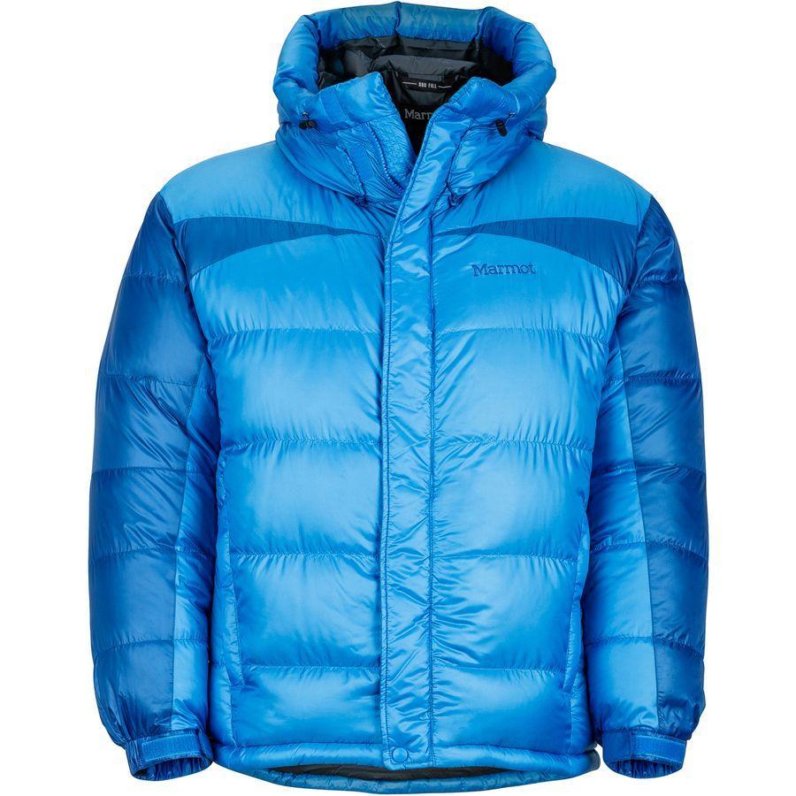 (取寄)マーモット メンズ グリーンランド バッフルド ダウン ジャケット Marmot Men's Greenland Baffled Down Jacket Clear Blue/Dark Cerulean