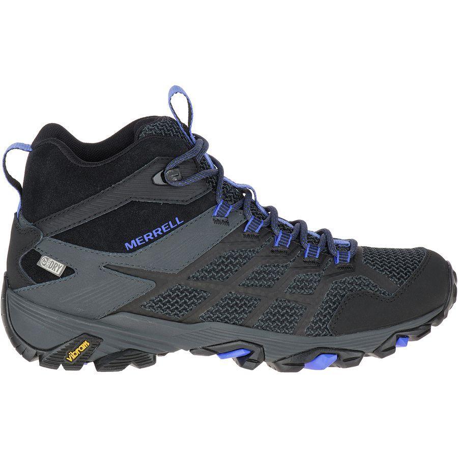 (取寄)メレル レディース モアブ FST 2 ミッド ハイキング ブーツ Merrell Women Moab FST 2 Mid Hiking Boot Black/Granite