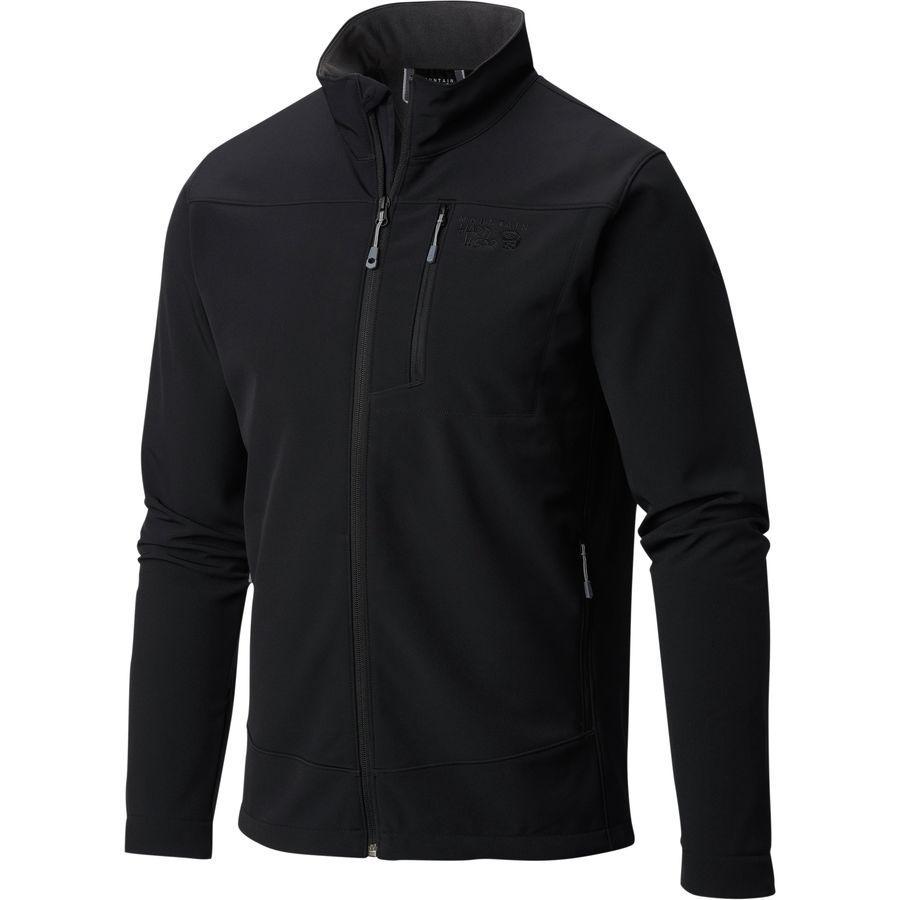(取寄)マウンテンハードウェア メンズ フェアリング ソフトシェル ジャケット Mountain Hardwear Men's Fairing Softshell Jacket Black