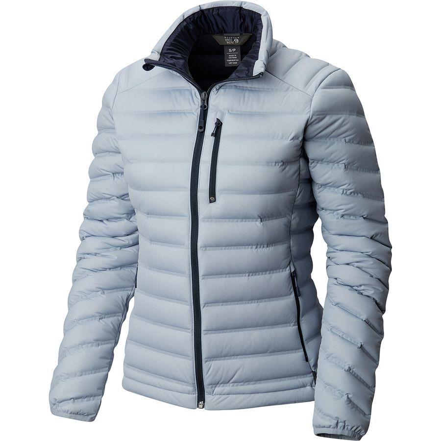 (取寄)マウンテンハードウェア レディース ストレッチダウン ダウン ジャケット Mountain Hardwear Women Stretchdown Down Jacket Arctic Circle Blue