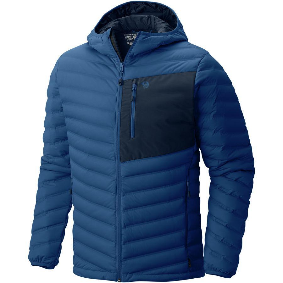 (取寄)マウンテンハードウェア メンズ ストレッチダウン フーデッド ジャケット Mountain Hardwear Men's StretchDown Hooded Jacket Nightfall Blue