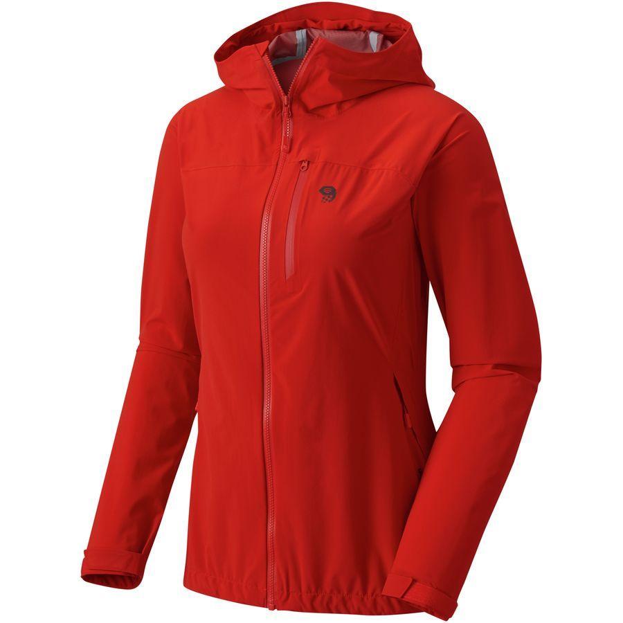 (取寄)マウンテンハードウェア レディース ストレッチ オゾニック ジャケット Mountain Hardwear Women Stretch Ozonic Jacket Fiery Red