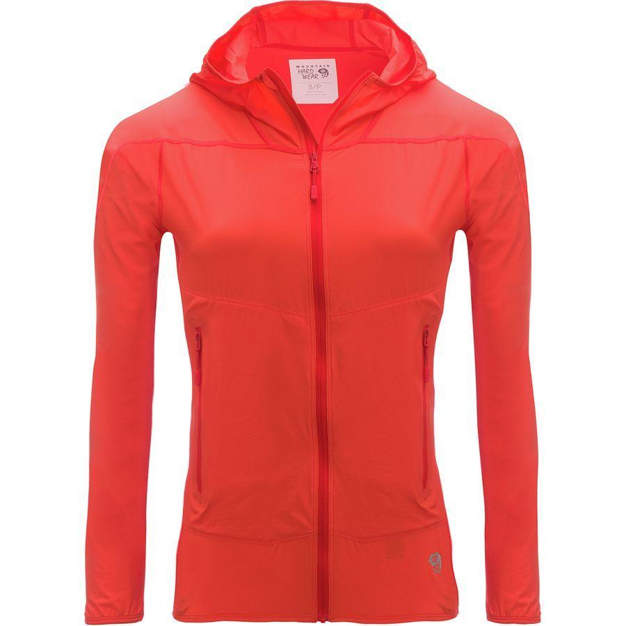 (取寄)マウンテンハードウェア レディース ゴースト ライト ストレッチ ジャケット Mountain Hardwear Women Ghost Lite Stretch Jacket Bright Ember