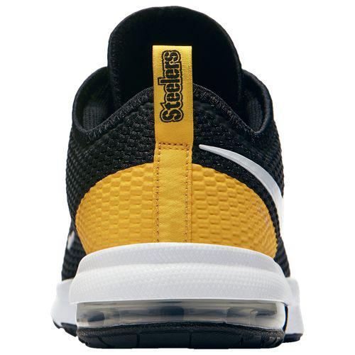 912379602 (order) Nike men NFL Air Max Thailand F 2 Pittsburgh Steelers Nike Men s  NFL Air Max Typha 2 Pittsburgh Steelers Black White University Gold