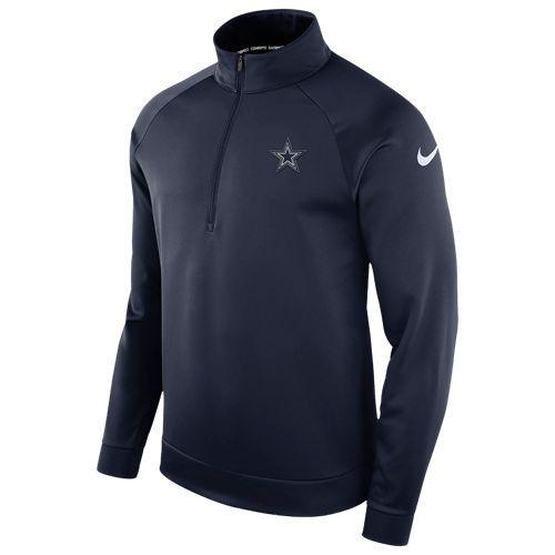 (取寄)ナイキ メンズ NFL サーマ 1/2 ジップ ロングスリーブ トップ Nike Men's NFL Therma 1/2 Zip L/S Top Navy