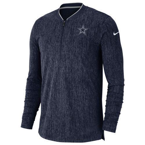 (取寄)ナイキ メンズ NFL コーチ サイドライン 1/2 ジップ トップ ダラス カウボーイ Nike Men's NFL Coaches Sideline 1/2 Zip Top ダラス カウボーイ Navy