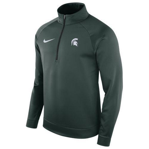 (取寄)ナイキ メンズ トレーニングウェア カレッジ サーマ ロングスリーブ 1/2 ジップ トップ ミシガン ステイト スパルタンズ Nike Men's College Therma L/S 1/2 Zip Top ミシガン ステイト スパルタンズ Green