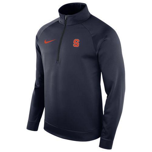 (取寄)ナイキ メンズ トレーニングウェア カレッジ サーマ ロングスリーブ 1/2 ジップ トップ シラキュース オレンジ Nike Men's College Therma L/S 1/2 Zip Top シラキュース オレンジ Navy