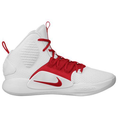 (取寄)ナイキ メンズ バッシュ ハイパーダンク 10 ミッド バスケットシューズ Nike Men's Hyperdunk X Mid White University Red