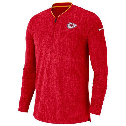(取寄)ナイキ メンズ トレーニングウェア NFL コーチ サイドライン 1/2 ジップ トップ カンザス シティ チーフス Nike Men's NFL Coaches Sideline 1/2 Zip Top カンザス シティ チーフス University Red