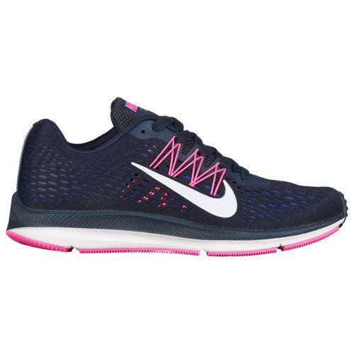 (取寄)ナイキ レディース ランニングシューズ ズーム ウィンフロー 5 Nike Women's Zoom Winflo 5 Obsidian Summit White Dark Obsidian Blue Pink