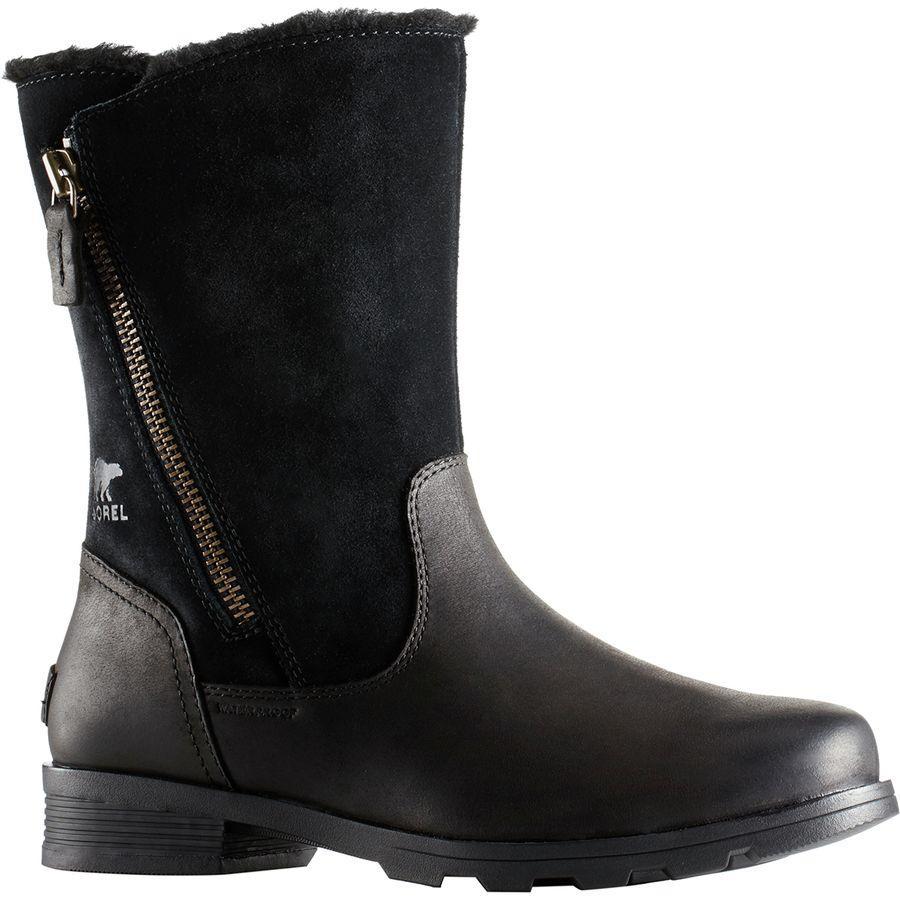 (取寄)ソレル レディース エミリー フォールドオーバー ブーツ Sorel Women Emelie Foldover Boot Black