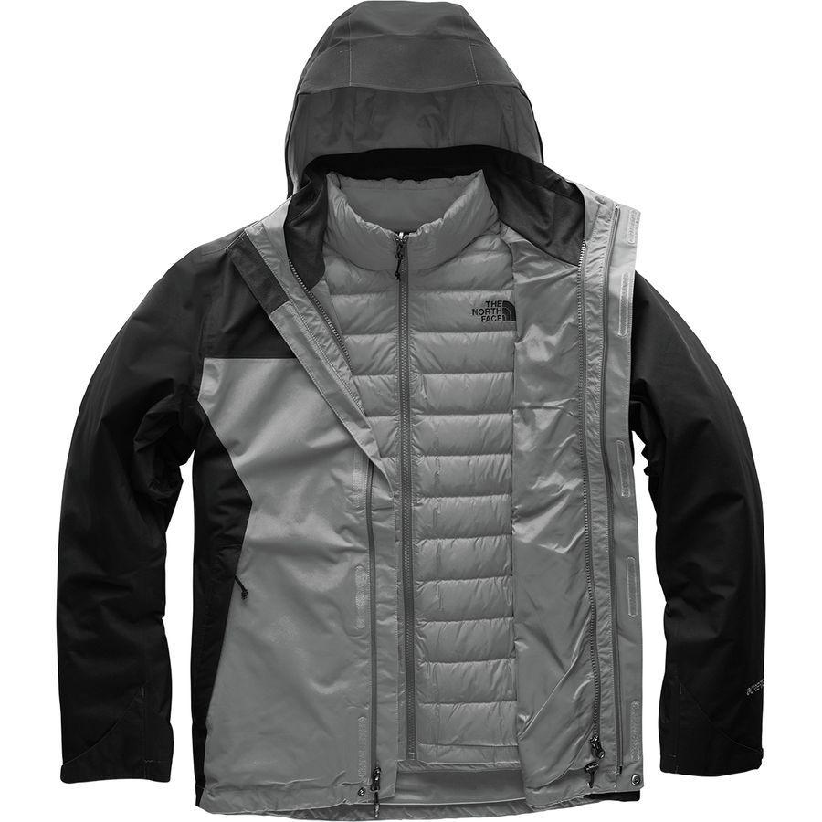 (取寄)ノースフェイス メンズ マウンテン ライト トリクラメイト フーデッド ジャケット The North Face Men's Mountain Light Triclimate Hooded Jacket Mid Grey/Tnf Black