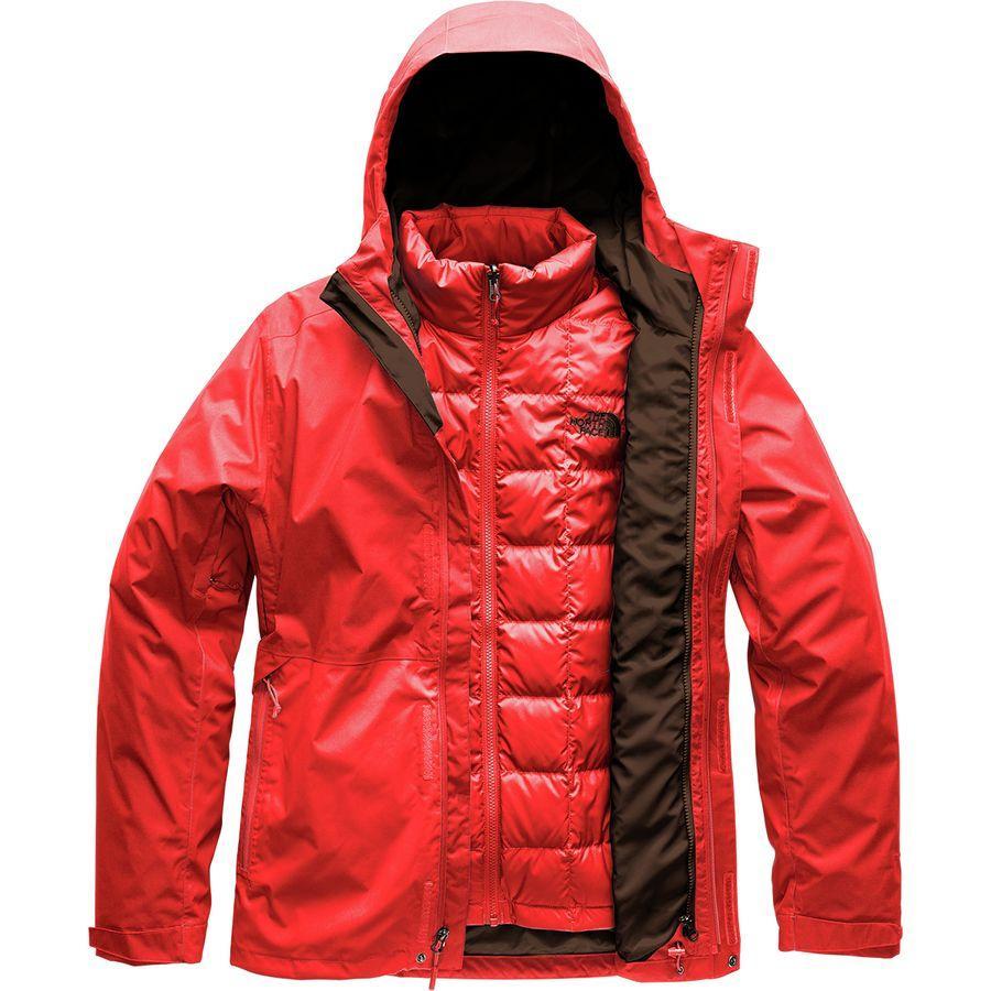 (取寄)ノースフェイス メンズ アルティエ ダウン トリクラメイト フーデッド ジャケット The North Face Men's Altier Down Triclimate Hooded Jacket Fiery Red/Fiery Red