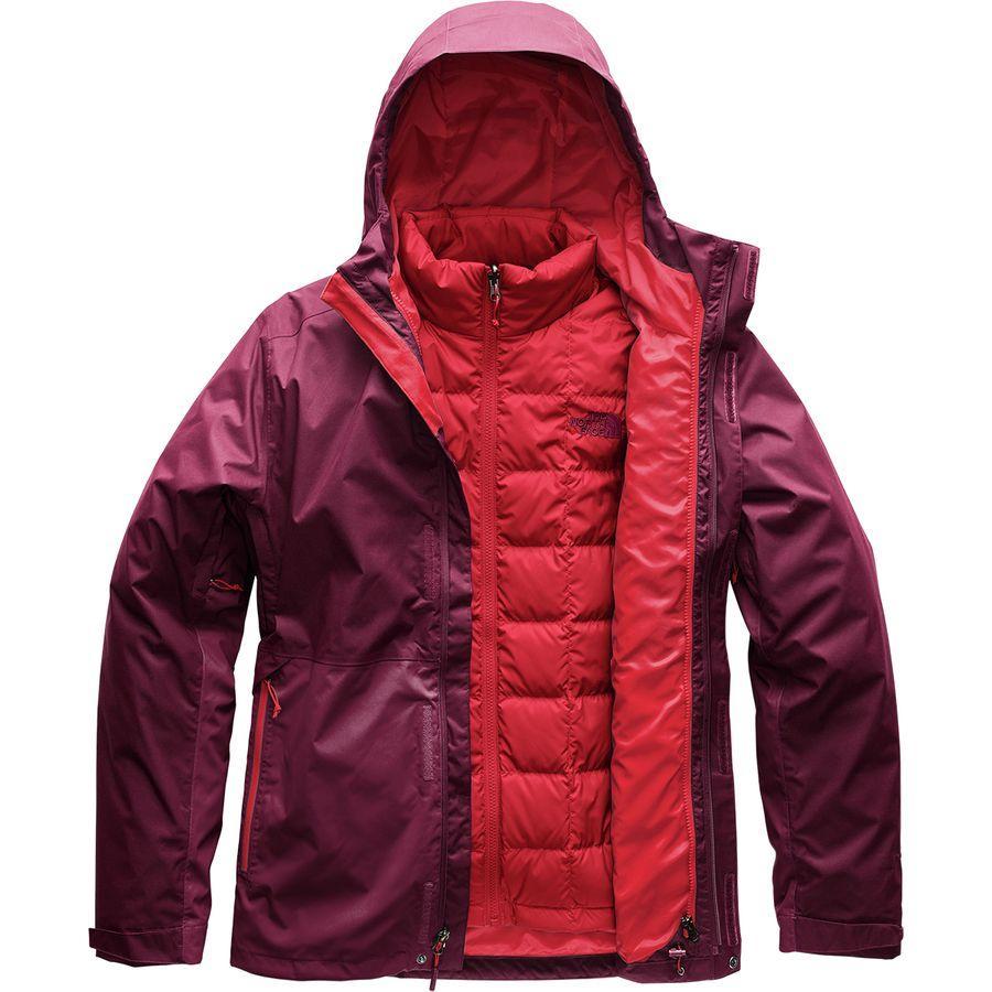 (取寄)ノースフェイス メンズ アルティエ ダウン トリクラメイト フーデッド ジャケット The North Face Men's Altier Down Triclimate Hooded Jacket Fig/Rage Red