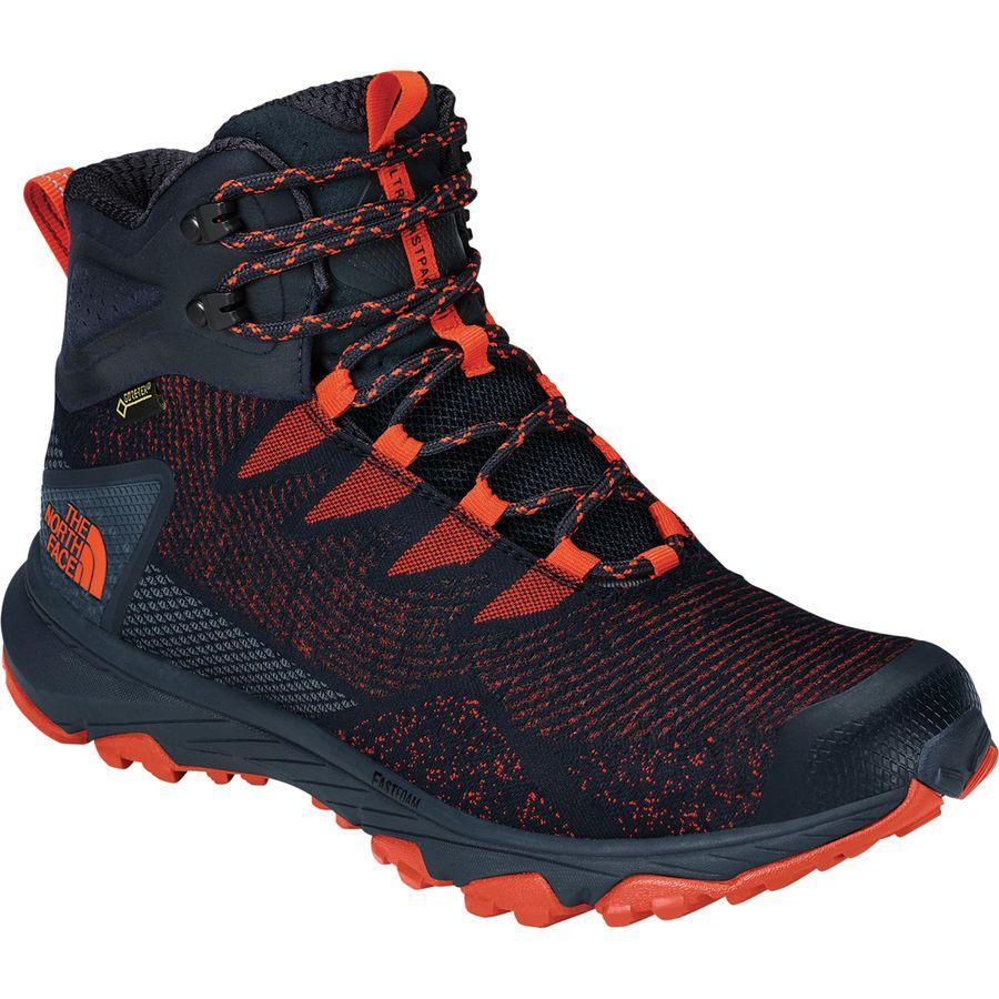 (取寄)ノースフェイス メンズ ウルトラ ファストパック 3 ミッド Gtx ウーヴン ハイキング ブーツ The North Face Men's Ultra Fastpack III Mid GTX Woven Hiking Boot Urban Navy/Scarlet Ibis