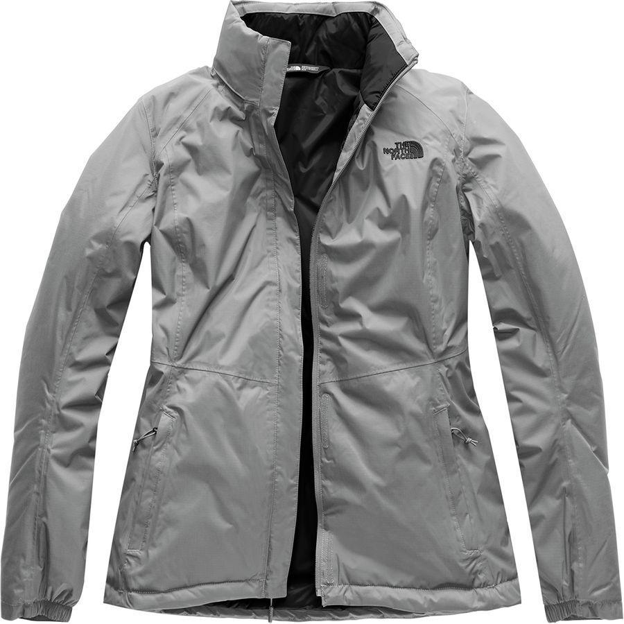 (取寄)ノースフェイス レディース リゾルブ インサレーテッド ジャケット The North Face Women Resolve Insulated Jacket Mid Grey/Mid Grey