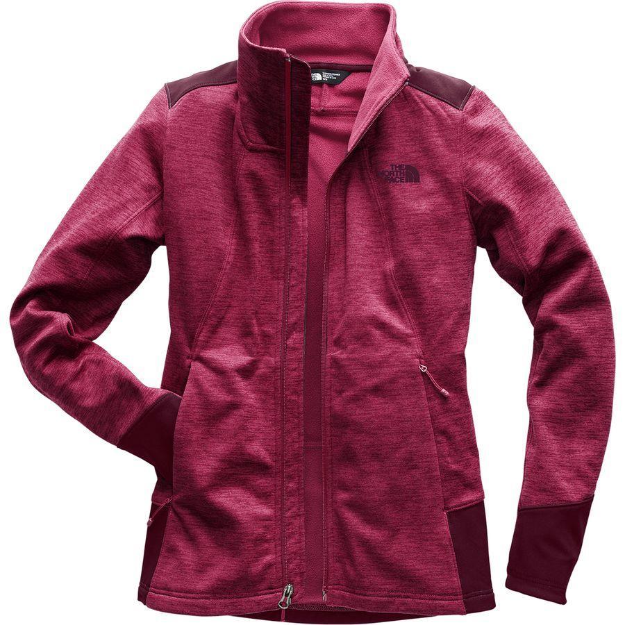 (取寄)ノースフェイス レディース シャスティーナ ストレッチ フルジップ ジャケット The North Face Women Shastina Stretch Full-Zip Jacket Rumba Red Heather/Fig