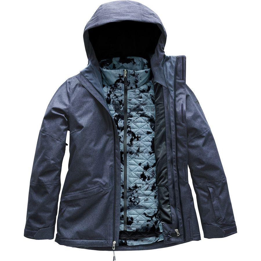 (取寄)ノースフェイス レディース ThermoBall スノー トリクラメイト フーデッド 3-In-1 ジャケット The North Face Women ThermoBall Snow Triclimate Hooded 3-In-1 Jacket Grisaille Grey Heather