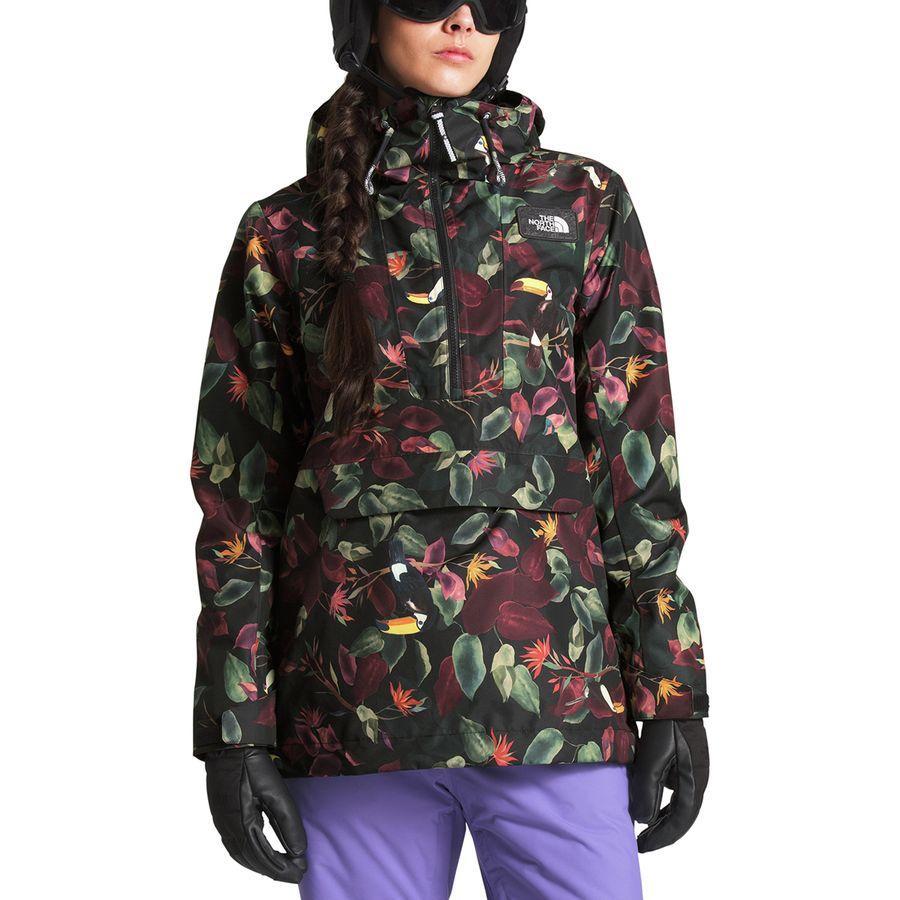 (取寄)ノースフェイス レディース タナジャー アノラック フーデッド ジャケット The North Face Women Tanager Anorak Hooded Jacket Tnf Black Toucan Print