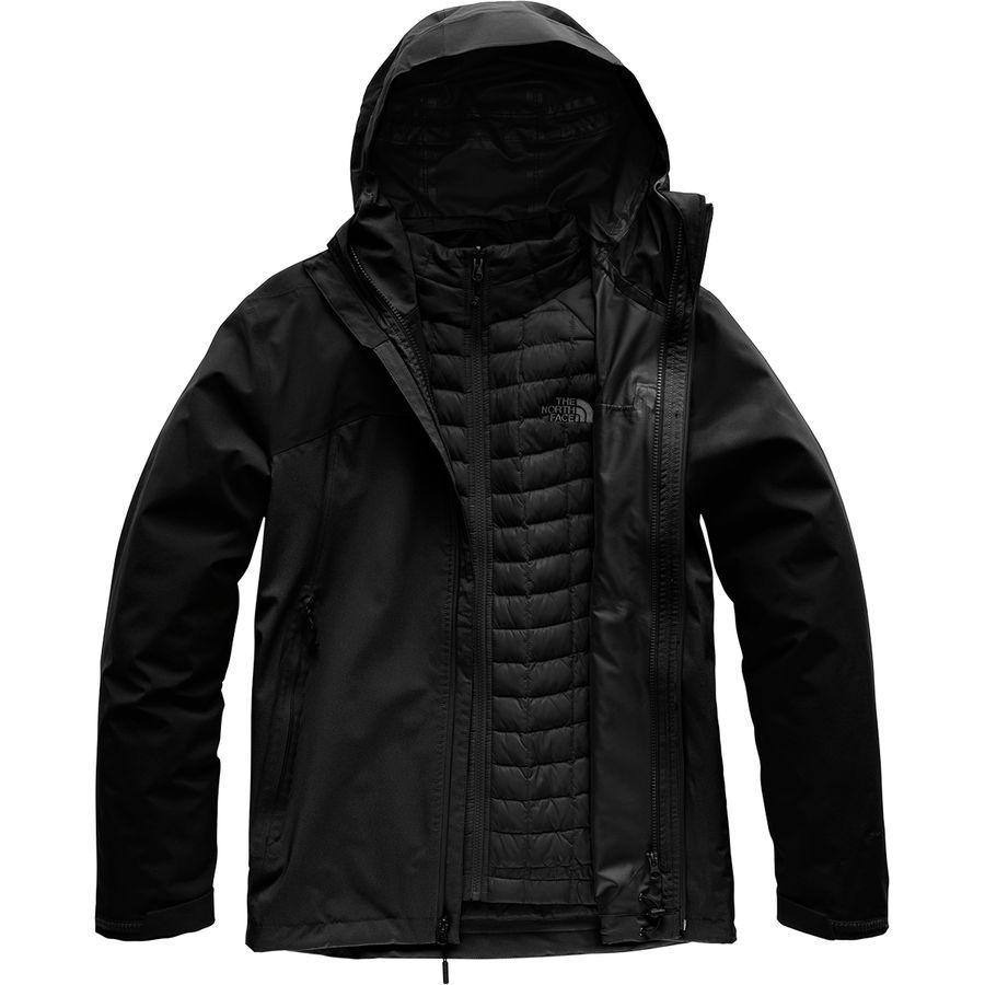 (取寄)ノースフェイス メンズ サーモボール トリクラメイト インサレーテッド ジャケット The North Face Men's Thermoball Triclimate Insulated Jacket Tnf Black/Tnf Black