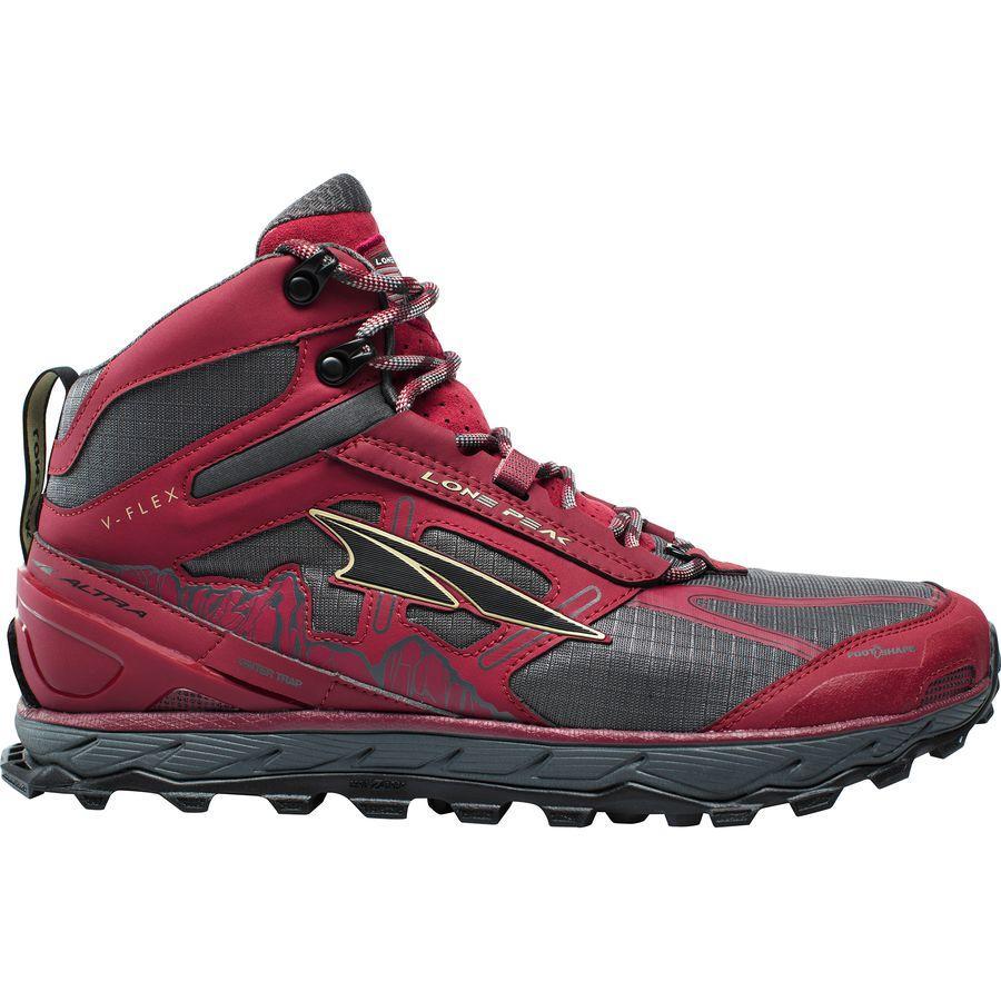 (取寄)アルトラ メンズ ローン ピーク 4.0ミッド メッシュ トレイル ランニングシューズ Altra Men's Lone Peak 4.0 Mid Mesh Trail Running Shoe Red