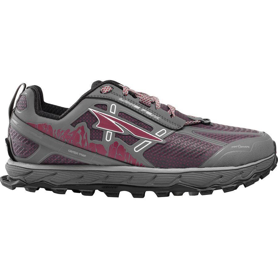 (取寄)アルトラ レディース ローン ピーク 4.0ロウ レイン スノー マッド トレイル ランニングシューズ Altra Women Lone Peak 4.0 Low Rain Snow Mud Trail Running Shoe Gray/Purple