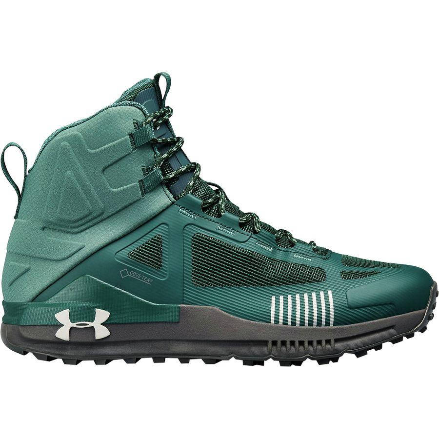 (取寄)アンダーアーマー メンズ ベルジェ 2.0ミッド Gtx ハイキング ブーツ Under Armour Men's Verge 2.0 Mid GTX Hiking Boot Ivy/Toddy Green/Overcast Gray