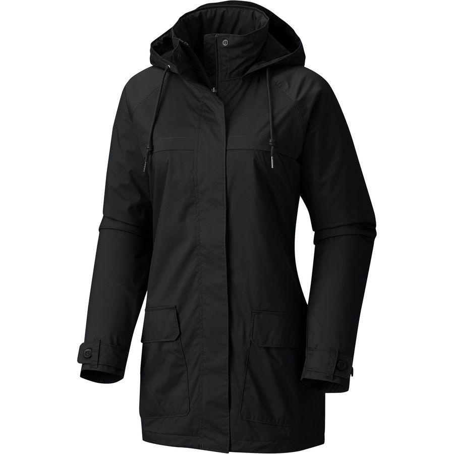 (取寄)コロンビア レディース ルックアウト クレスト フーデッド ジャケット Columbia Women Lookout Crest Hooded Jacket Black