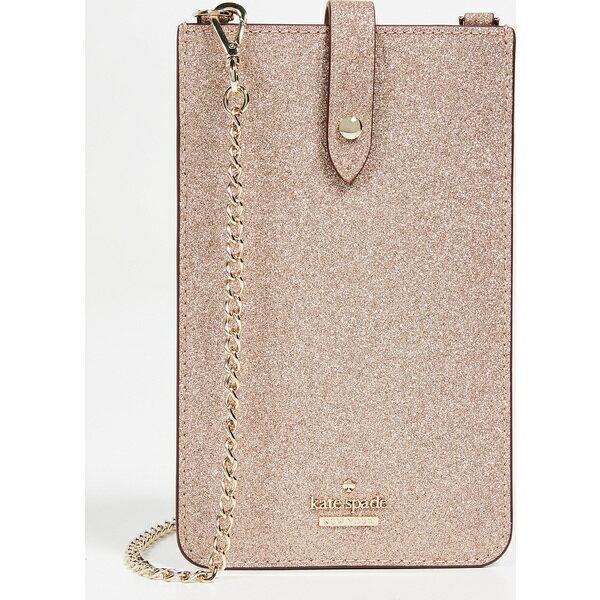 (取寄)ケイトスペード グリッター フォン スリーブ クロスボディ バッグ Kate Spade New York Glitter Phone Sleeve Crossbody Bag RoseGold